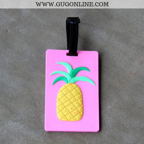 Pink Pineapple Luggage Tag