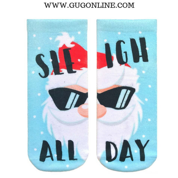 Santa Sleigh  All Day Ankle Socks