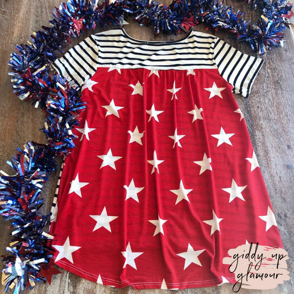 Let Freedom Ring Stripe Top with Star Back and Sequin Pocket