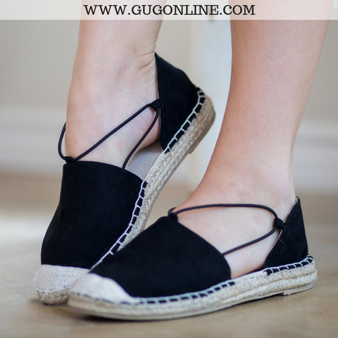 Simple Steps Espadrille Flats in Black
