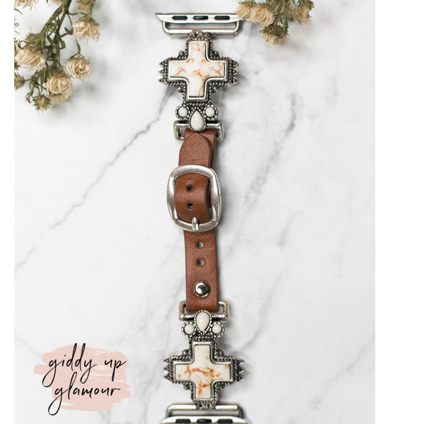 Ivory Cross Charm Apple Watch Band