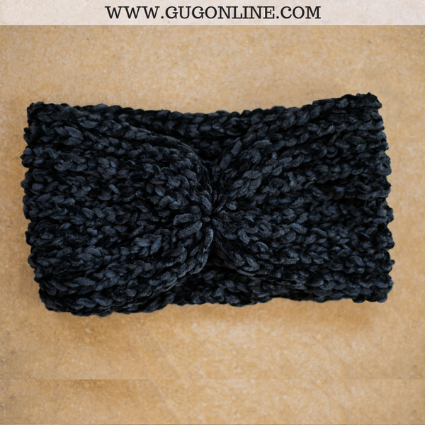 Chenille Headwrap in Black