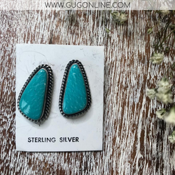 c87b3da6b Elouise Kee | Navajo Handmade Genuine Sterling Silver and Kingman Turq –  Giddy Up Glamour Boutique