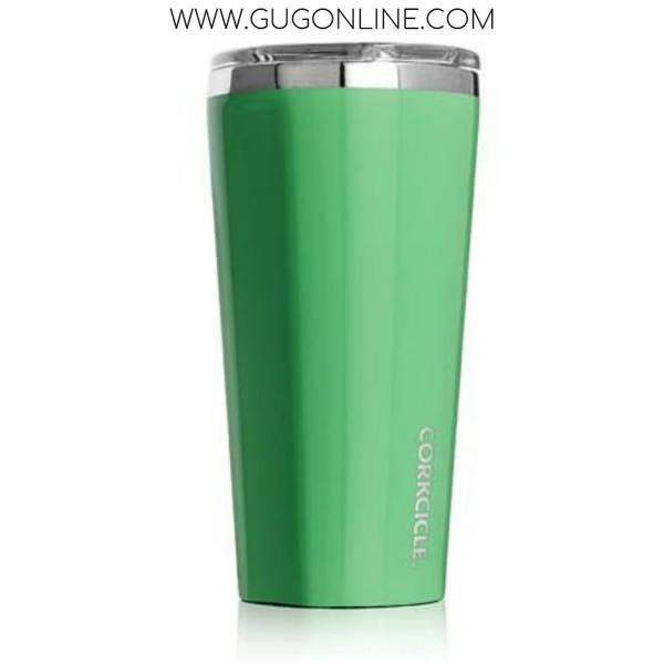 16 oz Classic Collection Corkcicle Tumbler in Caribbean Green