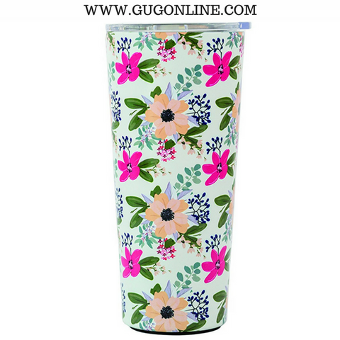 Amelia Floral Large Stainless Tumbler