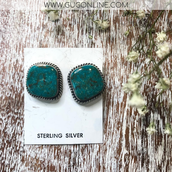 Elouise Kee Genuine Navajo Handmade Sterling Silver Indian Handcrafted white buffalo sleeping beauty dry creek royston kingman turquoise carico lake earrings bracelets necklace ring heritage style turquoise & co