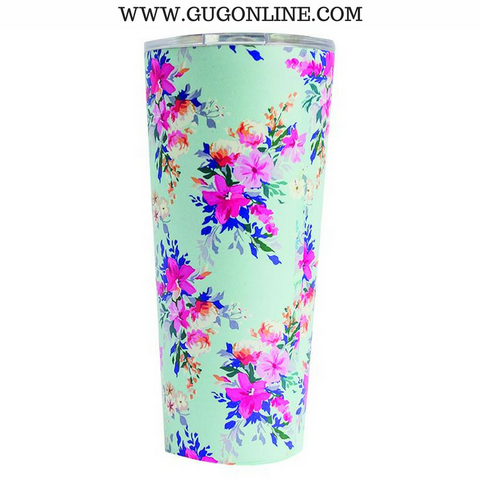 Lexington Floral Large Stainless Tumbler