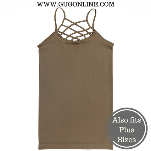 Crossing The Limits Strappy Camisole in Mocha