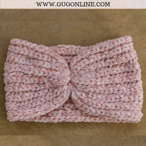 Chenille Headwrap in Blush