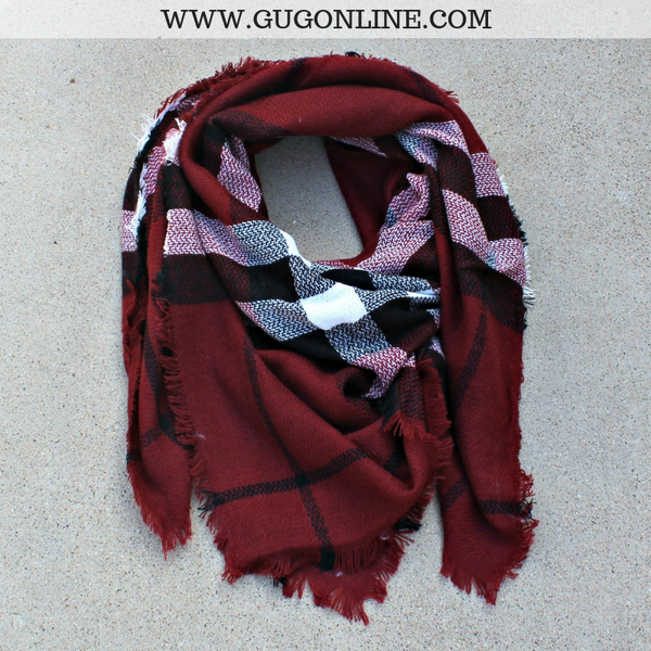 women's boutique plaid blanket scarf outfit cheap christmas stocking stuffers warm snow target amazon walmart dimensions how to wear Burberry maroon burgundy