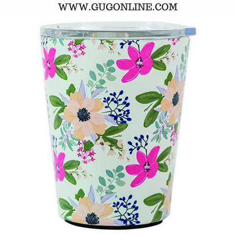 Amelia Floral Stainless Coffee Tumbler