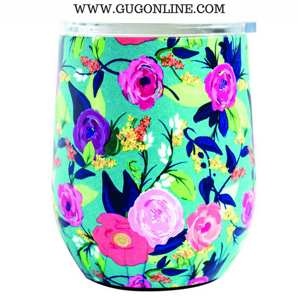 Nantucket Floral Stainless Drink Tumbler