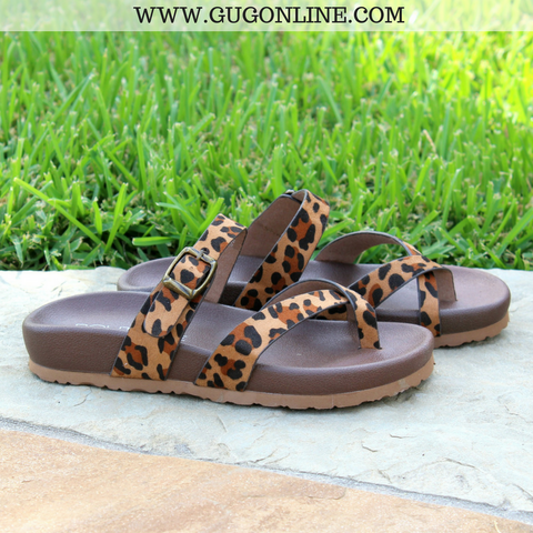 Find The Spot Strappy Sandals in Leopard