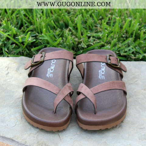 Find The Spot Strappy Sandals in Taupe
