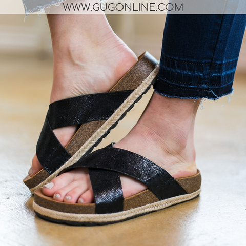 Corky's | Dolphin Sandals in Black