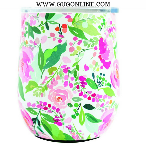 Charlotte Floral Stainless Drink Tumbler