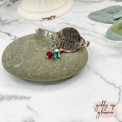Merry and Bright Silver Wire Bracelet