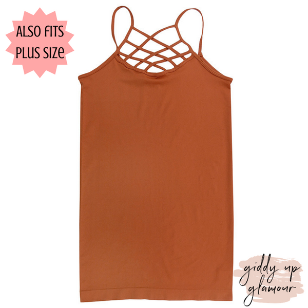 seamless criss cross camisole strappy caged