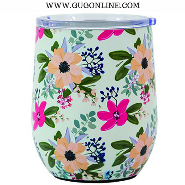 Amelia Floral Stainless Drink Tumbler