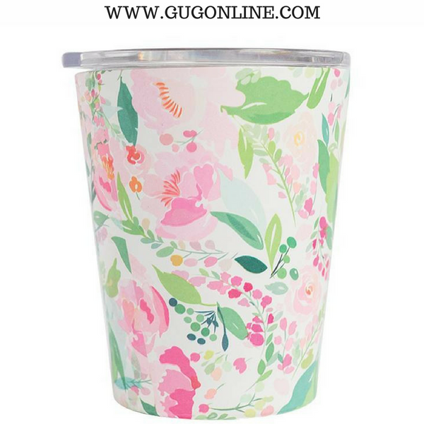 Charlotte Floral Stainless Coffee Tumbler