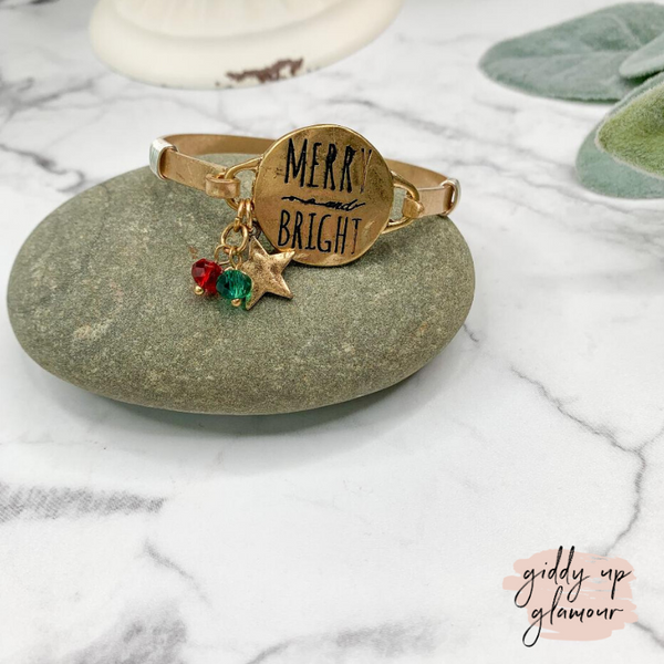 Merry and Bright Gold Wire Bracelet