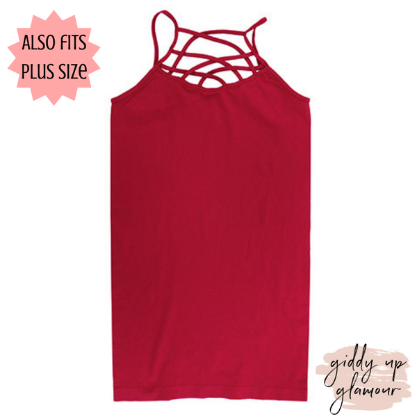 Crossing The Limits Strappy Camisole in Red