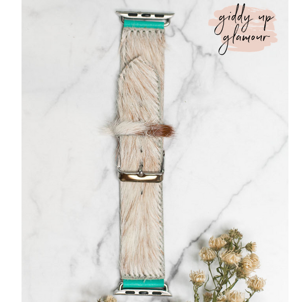 Faux Fur Apple Watch Band in Ivory