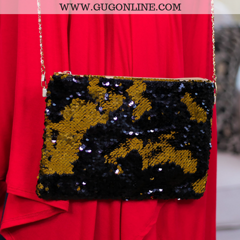 Oh La Las Vegas Sequin Purse in Black