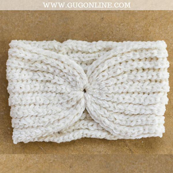 Chenille Headwrap in Ivory