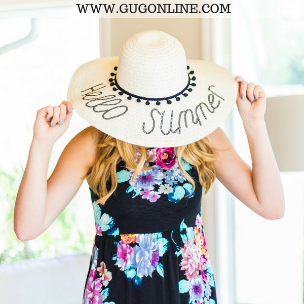 Hello Summer Floppy Straw Hat – Giddy Up Glamour Boutique 8549ce55c4d4