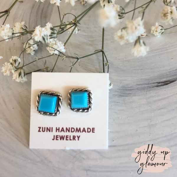 Zuni Genuine Sterling Silver Indian Handcrafted white buffalo sleeping beauty dry creek royston kingman turquoise carico lake earrings bracelets necklace ring heritage style turquoise & co