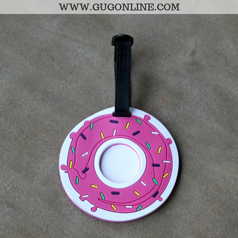 Pink Donut Luggage Tag