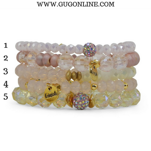 Erimish Stackable Crystal Bracelets - Lemonade