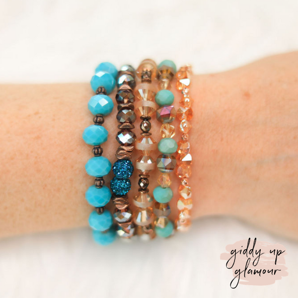 Erimish | Buckaroo Jar | Stackable Crystal Bracelets in Turquoise and Brown