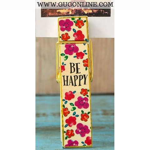 Be Happy Jumbo Clip