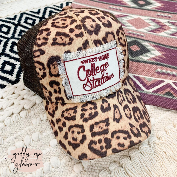 Sweet Home College Station Ball Cap in Leopard