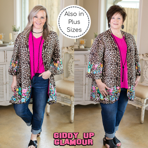 A Little On The Wild Side Kimono in Leopard