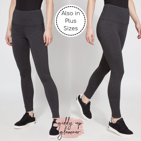 Online Exclusive | Lysse Signature Premium Ankle Length Leggings in Peppered Grey