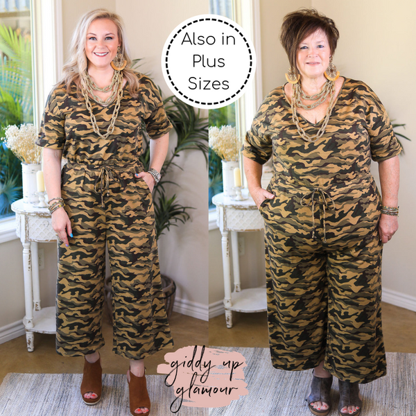 Finders Keepers Wide Leg Jumpsuit in Camouflage