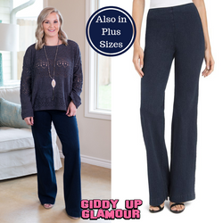 3ec2aed3311 Lysse Denim Wide Leg Trouser Jeans in Indigo – Giddy Up Glamour Boutique