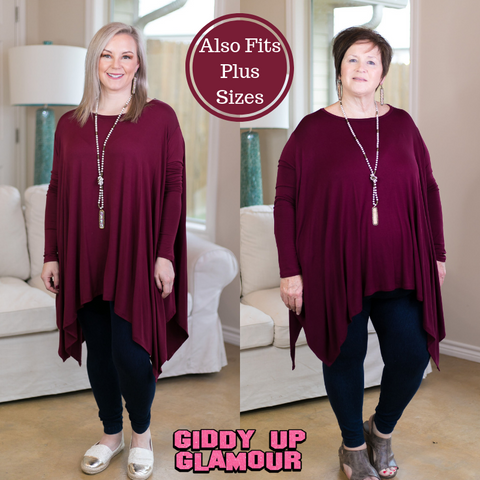 Perfect Getaway Handkerchief Top in Maroon