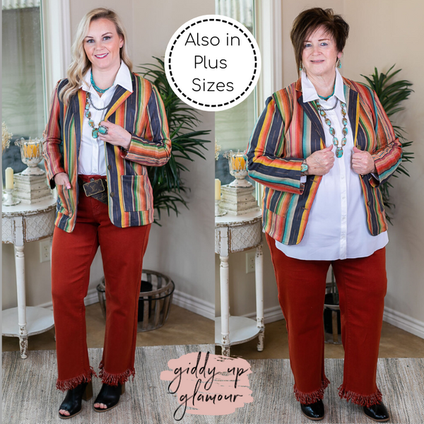 Vintage Cowgirl Suede Blazer in Serape long sleeve button up coat