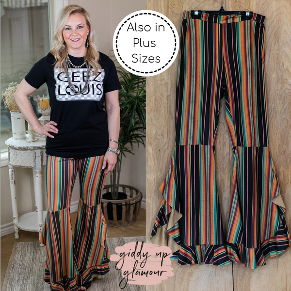 Western Flare Bell Bottom Pants in Serape flare pants soft rodeo fashion