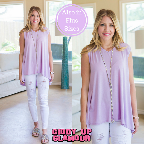 Color My Soul High-Low Tunic in Lavender