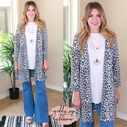 All Eyes On You Leopard Cardigan in Mint and Grey kimono cheetah long sleeve