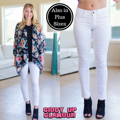 Your Own Story Skinny Jeans in White