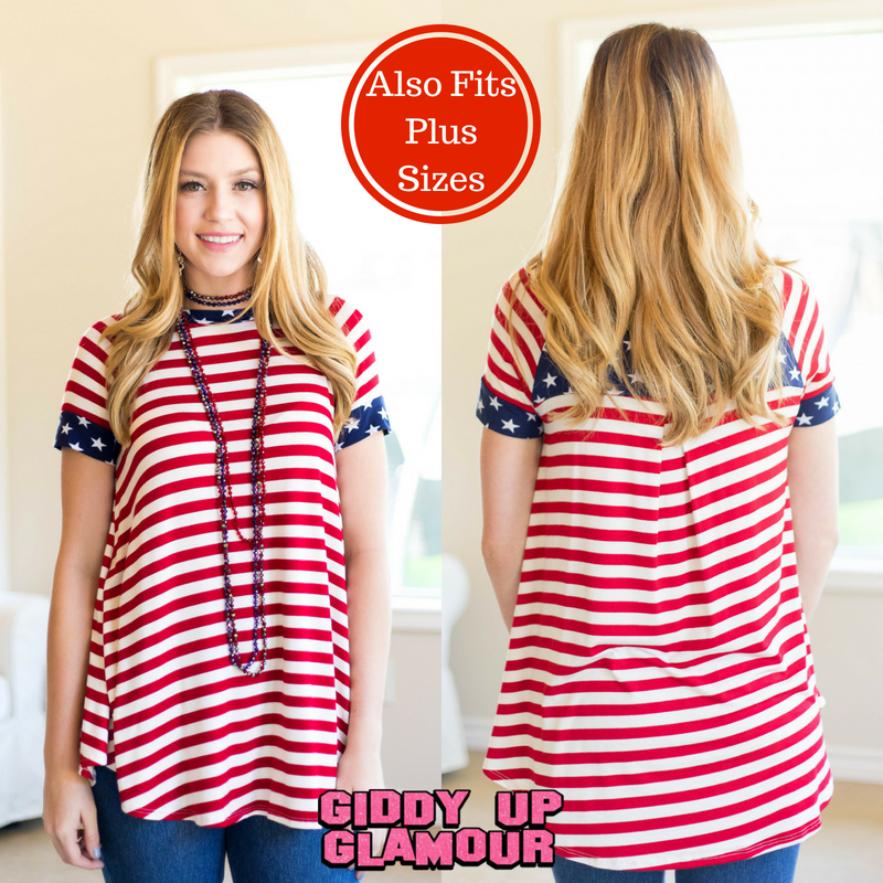 Stars and Stripes Short Sleeve American Flag Tee