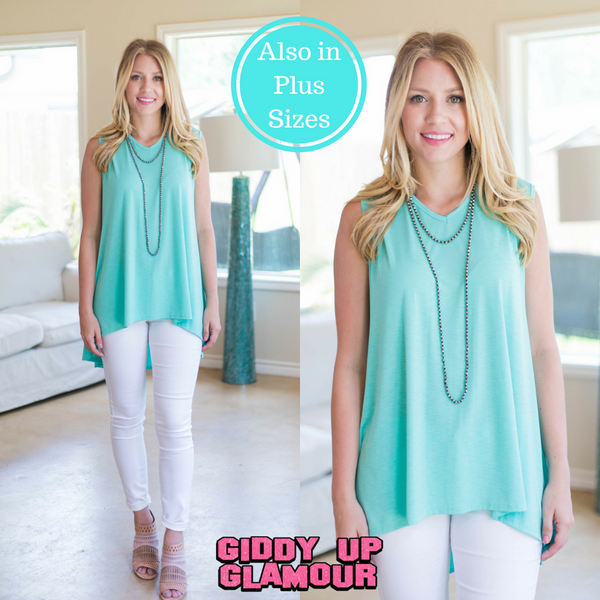 Color My Soul High-Low Tunic in Mint