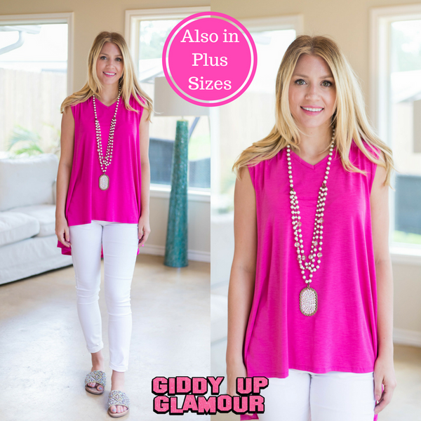 Color My Soul High-Low Tunic in Fuschia
