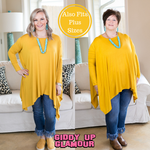 Perfect Getaway Handkerchief Top in Mustard Yellow